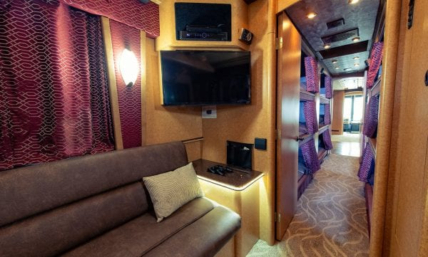 Tour bus back lounge
