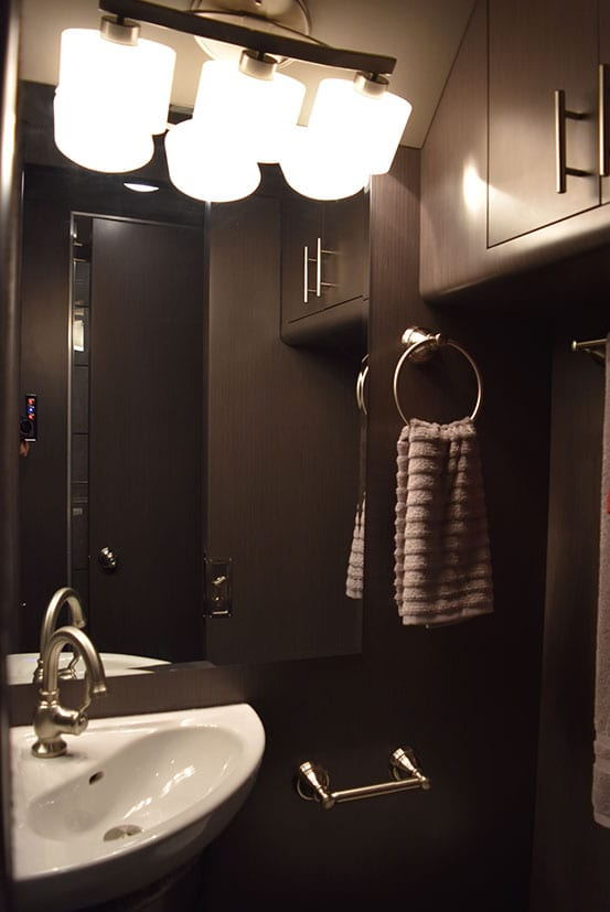 Brookland entertainer coach bathroom